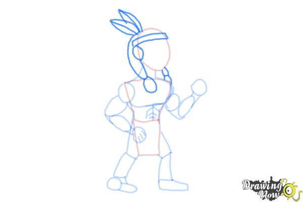 How to Draw Native Americans - Step 6