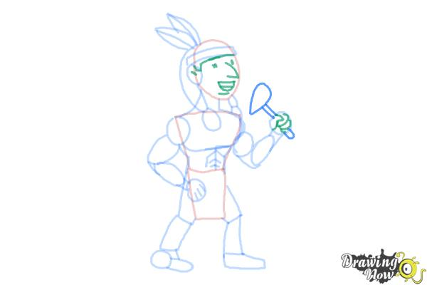 How to Draw Native Americans - Step 7
