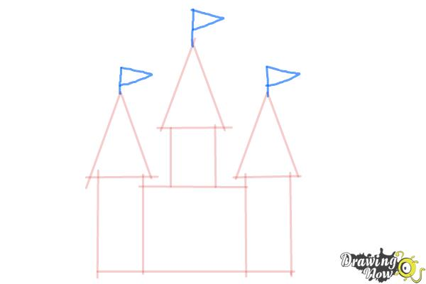 How to Draw a Simple Castle - Step 4