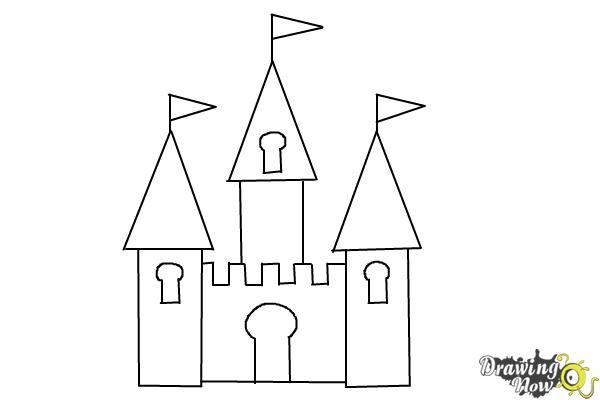 how to draw a simple castle step 7