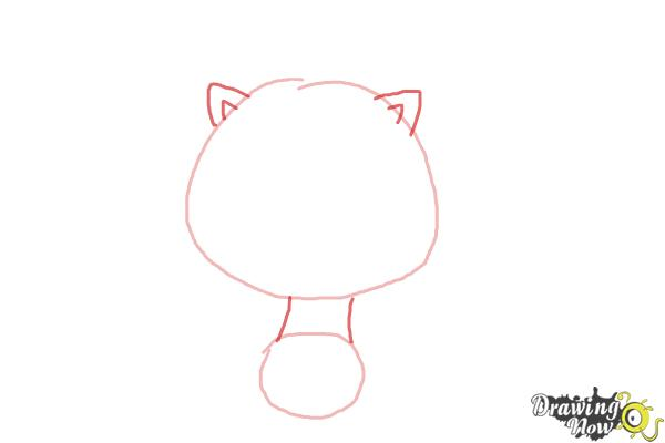 How to Draw Chibi Kon from Bleach - Step 2
