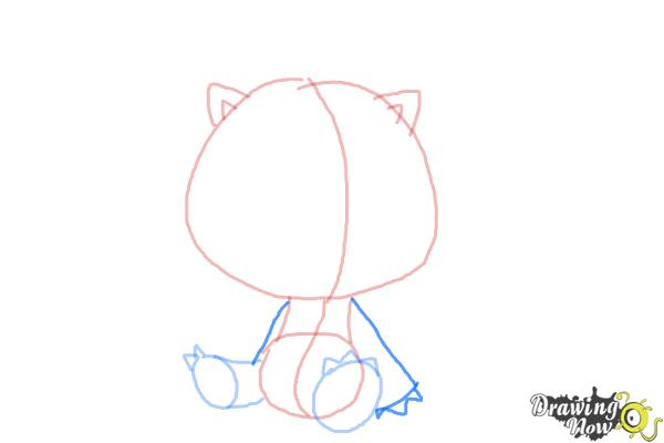 How to Draw Chibi Kon from Bleach - Step 4