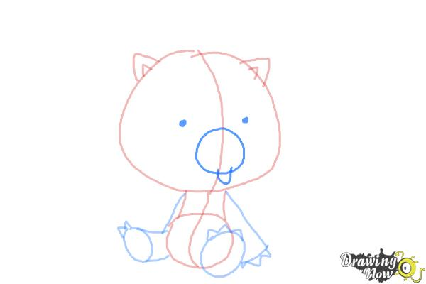 How to Draw Chibi Kon from Bleach - Step 5