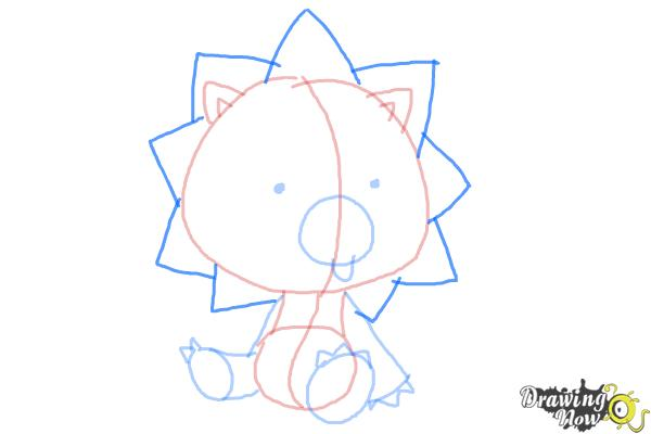 How to Draw Chibi Kon from Bleach - Step 6