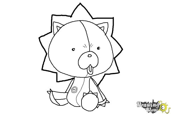 How to Draw Chibi Kon from Bleach - Step 7