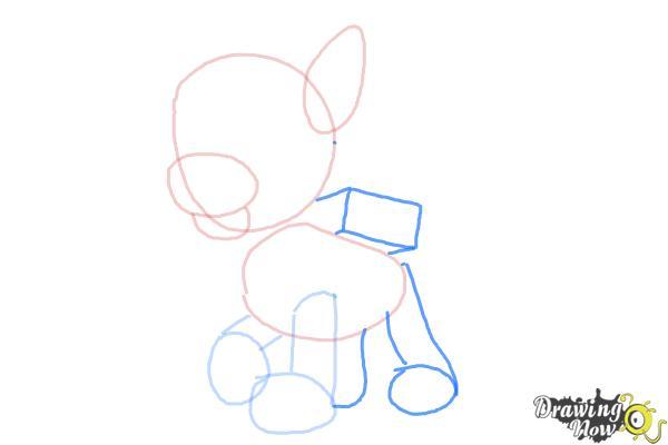 How to Draw Rocky Paw Patrol - Step 4