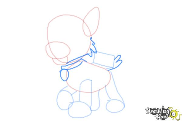 How to Draw Rocky Paw Patrol - Step 5