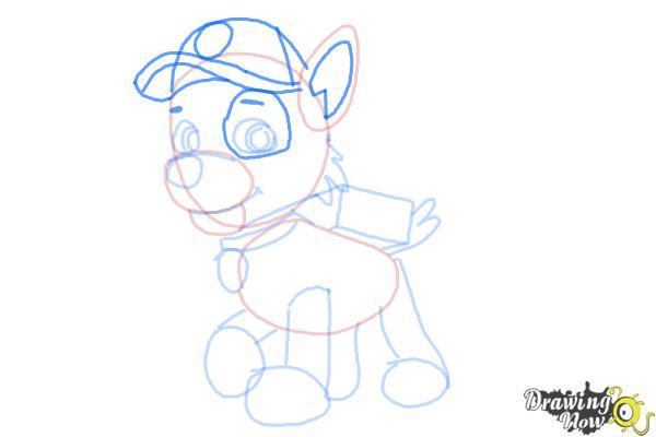 How to Draw Rocky Paw Patrol - Step 7