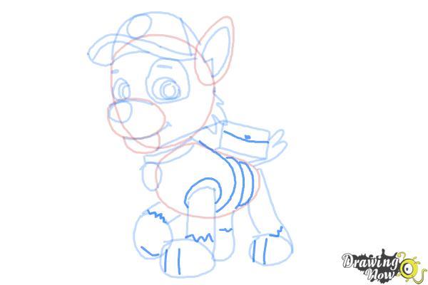 How to Draw Rocky Paw Patrol - Step 8