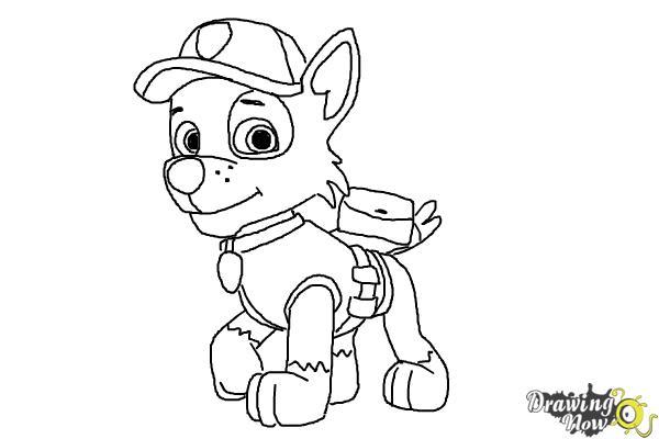 How to Draw Rocky Paw Patrol - Step 9