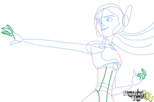 How to Draw Honey Lemon from Big Hero 6 - Step 9