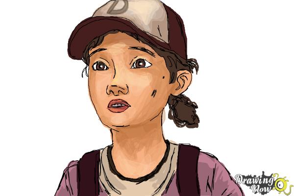 How to Draw Clementine from The Walking Dead - Step 10