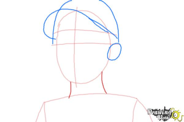 How to Draw Clementine from The Walking Dead - Step 4