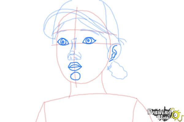 How to Draw Clementine from The Walking Dead - Step 7