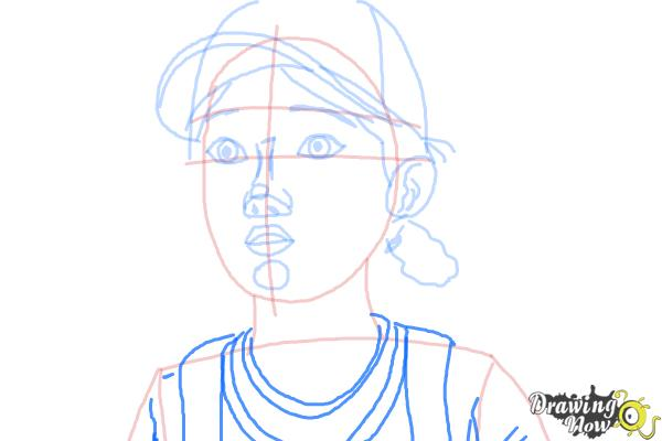 How to Draw Clementine from The Walking Dead - Step 8