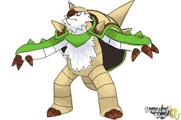 How to Draw Chesnaught from Pokemon - Step 10