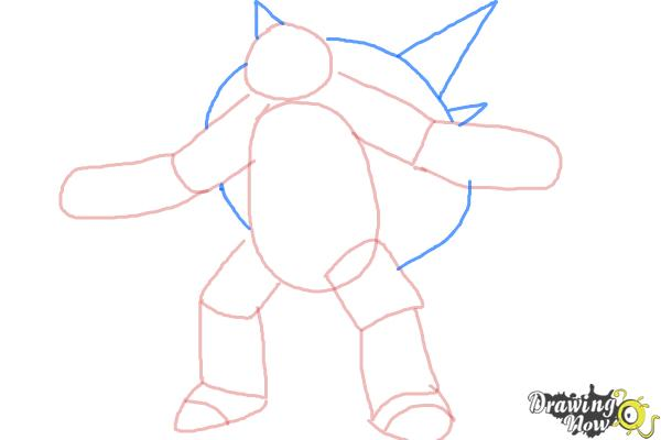 How to Draw Chesnaught from Pokemon - Step 4
