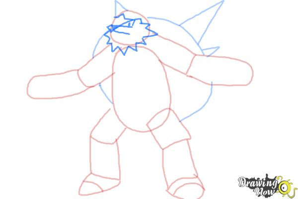 How to Draw Chesnaught from Pokemon - Step 5