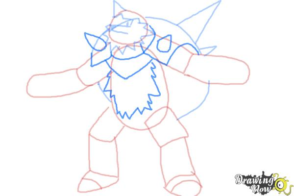 How to Draw Chesnaught from Pokemon - Step 6