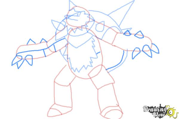 How to Draw Chesnaught from Pokemon - Step 7