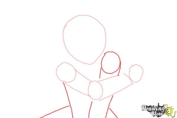 How to Draw Shana from Shakugan No Shana - Step 3