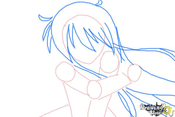 How to Draw Shana from Shakugan No Shana - Step 4