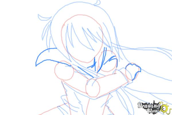 How to Draw Shana from Shakugan No Shana - Step 6