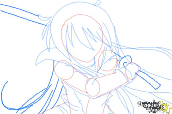 How to Draw Shana from Shakugan No Shana - Step 7