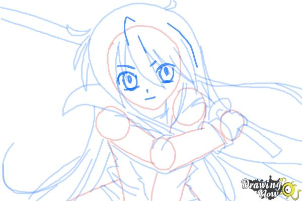 How to Draw Shana from Shakugan No Shana - Step 8