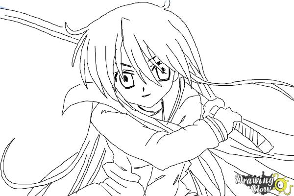 How to Draw Shana from Shakugan No Shana - Step 9