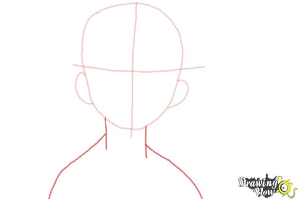 How to Draw Konekomaru Miwa from Ao No Exorcist, Blue Exorcist - Step 3