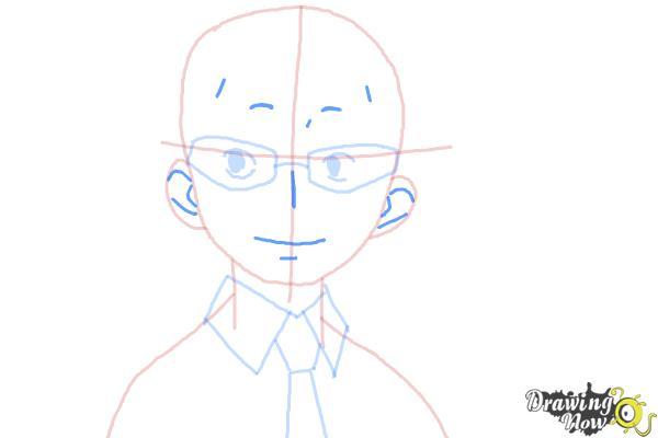 How to Draw Konekomaru Miwa from Ao No Exorcist, Blue Exorcist - Step 6