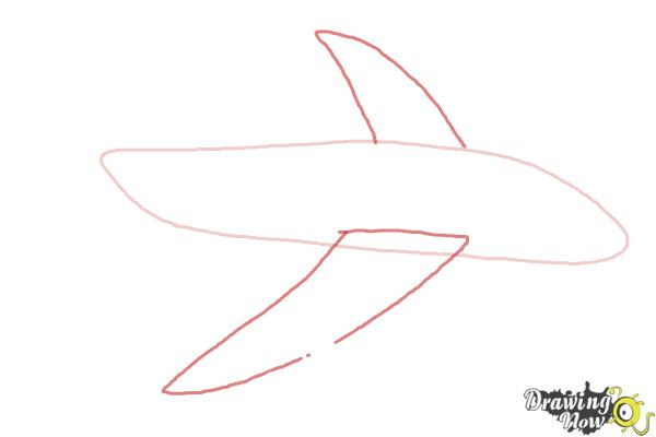 How to Draw a Simple Airplane - Step 2