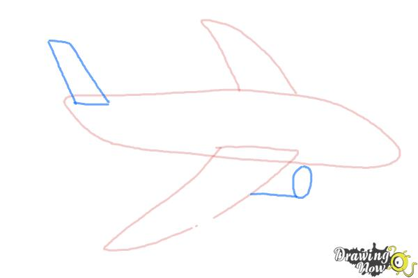 How To Draw A Simple Airplane Drawingnow