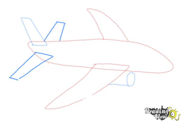 How to Draw a Simple Airplane - Step 4