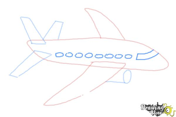 How to Draw a Simple Airplane - Step 5