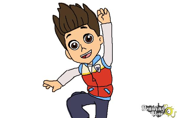 How To Draw Ryder From Paw Patrol Drawingnow