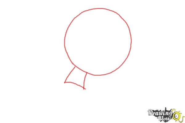 How to Draw Chibi Jack Skellington - Step 1