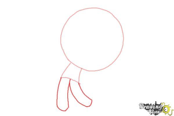 How to Draw Chibi Jack Skellington - Step 2