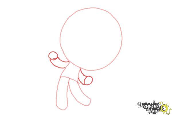 How to Draw Chibi Jack Skellington - Step 3