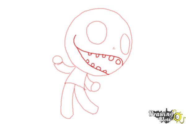 How to Draw Chibi Jack Skellington - Step 5