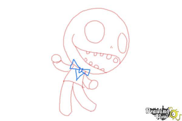 How to Draw Chibi Jack Skellington - Step 6