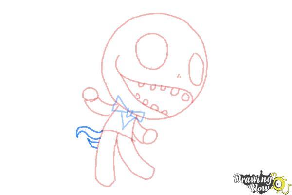 How to Draw Chibi Jack Skellington - Step 7