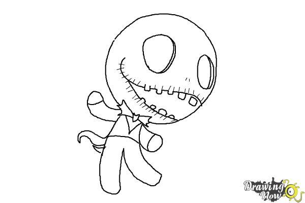 How To Draw Chibi Jack Skellington Drawingnow