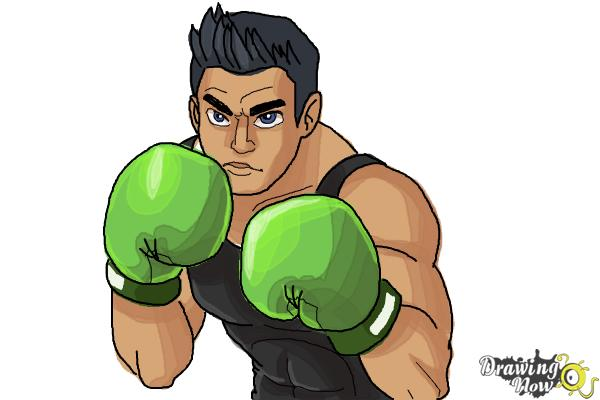 How to Draw Little Mac from Super Smash Bros - Step 10