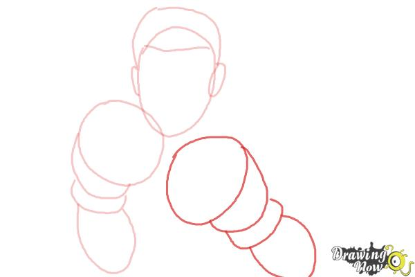 How to Draw Little Mac from Super Smash Bros - Step 4