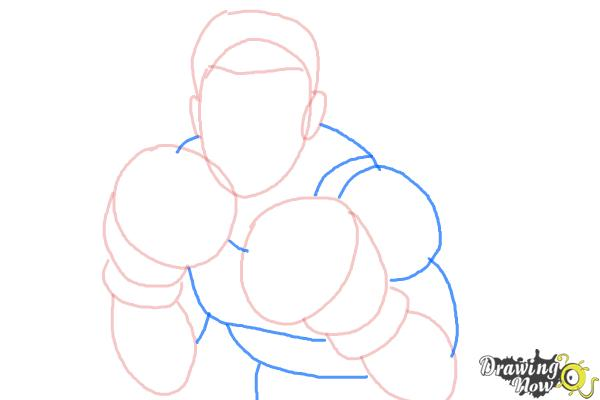 How to Draw Little Mac from Super Smash Bros - Step 5