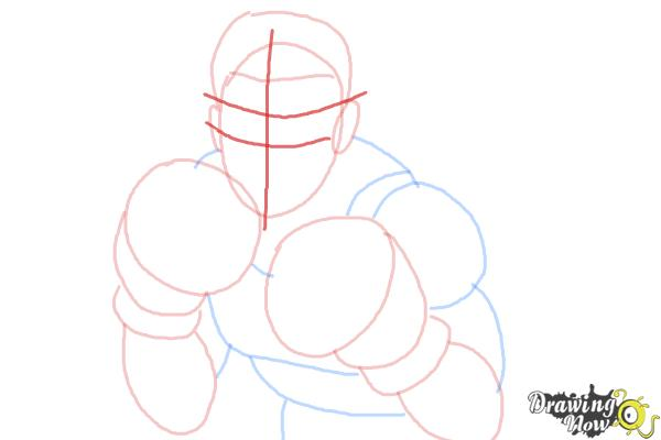 How to Draw Little Mac from Super Smash Bros - Step 6