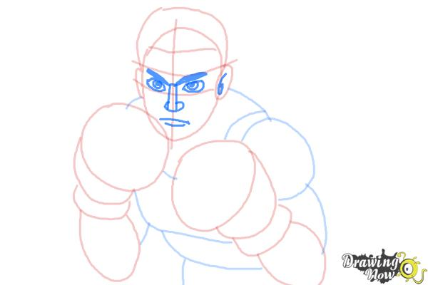 How to Draw Little Mac from Super Smash Bros - Step 7
