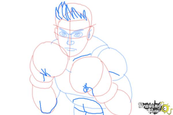 How to Draw Little Mac from Super Smash Bros - Step 8